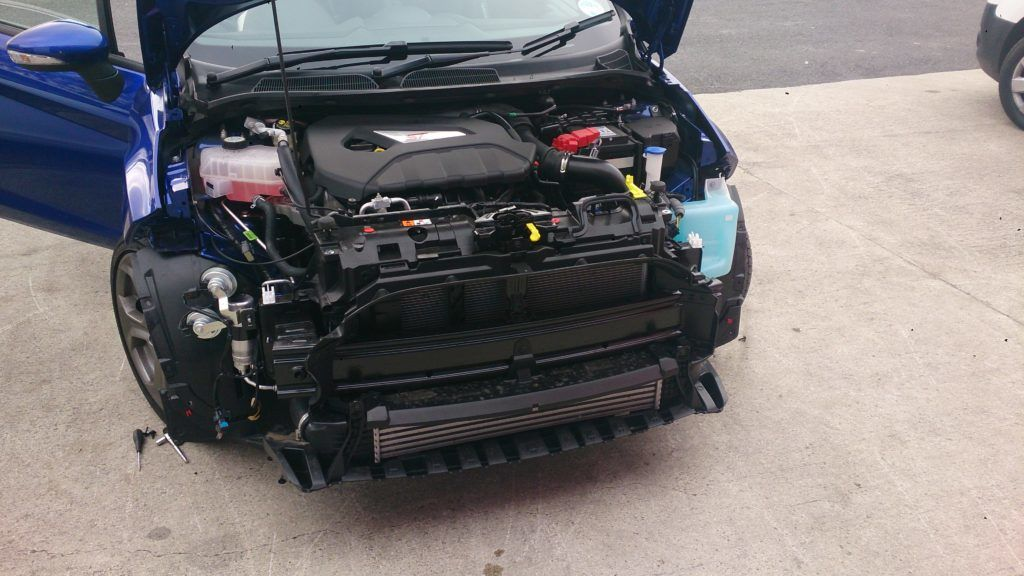 Fiestsa ST Intercooler Swap 2